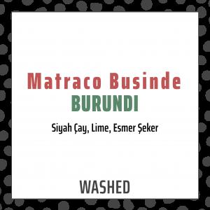 Burundi Matraco Businde Washed